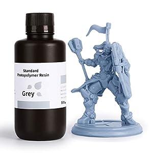 ELEGOO LCD UV 405nm Rapid 3D Resin for LCD 3D Printer 500g Photopolymer Resin Grey