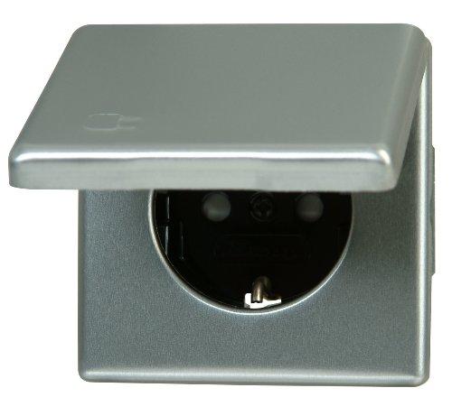 Kopp 115620083  Vision Schutzkontakt-Steckdose mit Deckel und erhöhtem Berührungsschutz
