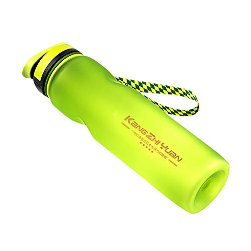 Fine Outdoor Sports Water Bottle Portable Travel Leak Proof Tour Hiking Camp Bottle,Fitness Sports Water Bottle for Camping,Cycling (Green)