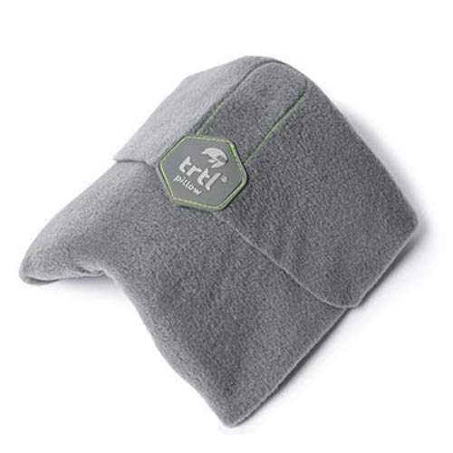trtl Pillow - Scientifically Proven Super Soft Neck Support Travel Pillow - Machine Washable (Grey, Adult)