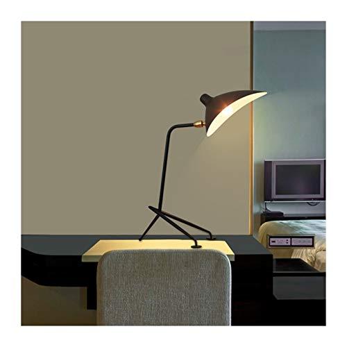 YSDSPTG Lampe de Table créative Table de Lampe Nordic Simple Simple à côté de la Lampe for Lampes à Coucher Lampes Salon Maison Déco Étude Lampe Table de Maquillage (Lampshade Color : Small Black)