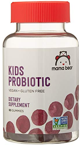 Amazon Brand - Mama Bear Vegan Probiotic, 60 Gummies, 1 Billion CFU per Gummy