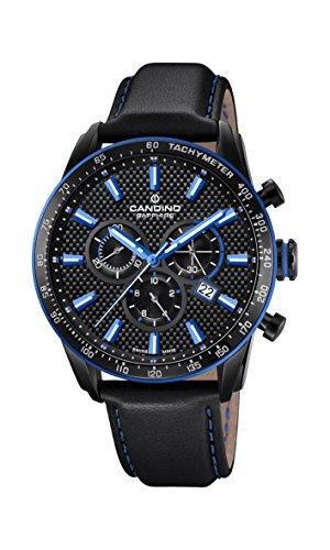 Candino Herren Chronograph Quarz Uhr mit Leder Armband C4683/2