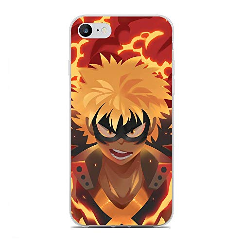 SHUAIJA Thin Clear Coque Transparent Soft Slim TPU Crystal Case Cover For Apple iPhone 7/8/SE 2020-My Hero-Academia Midoriya 7