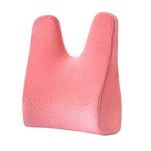 Yulo Espalda Lumbar Apoyo Cintura Cojín Almohadilla Mujeres Embarazadas Almohada aliviar prevenir Dolor Lumbar,Rosado,33X44X10CM