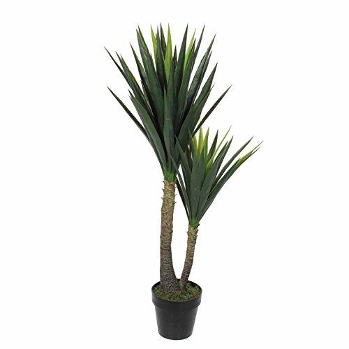 Mica decorations künstliche Yucca Palme - Yuccapalme im Kunststofftopf - h 120 x d 60cm