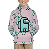Among Us Teal Fabric Unisex Realistic 3D Print Galaxy Pullover Hoodie Funny Pattern Hooded Sweatshirts Pockets for Teens