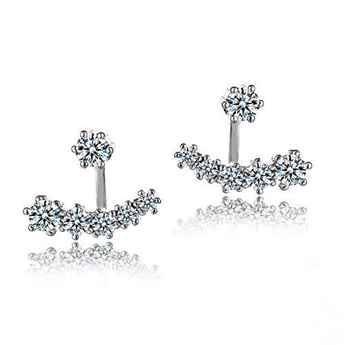 ZRDMN S925 Sterling Silber Nadel Dual-Use-Ohrringe Zirkon voller Diamanten hängen Ohrringe Schmuck nicht verblassen Ohrringe Ohrstecker Dangler Eardrop Schmuck für Frauen Mädchen