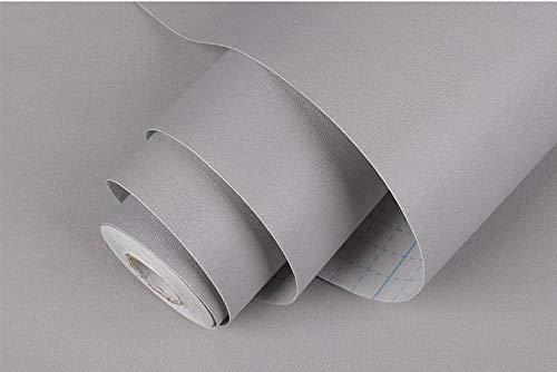 BENQUE 壁紙シール 無地 3D DIY ウォールステッカー はがせる 防水 45cm×10M グレー