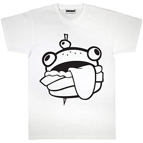 Fortnite Durr Burger Herren-T-Shirt Weiß 2XL | S-XXL, Der Spieler X-Box PS4 PS5 Schalter Klassische Rundhalsausschnitt Graphic Tee, Geburtstagsgeschenkidee für Männer, für Haus oder Gym