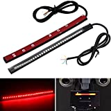 Led Strip Light for Motorcycle Bike Tail Brake Stop Running Turn Signal Lights License Plate Lamp 12V Red Yellow Pack of 2