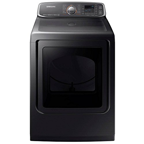 SAMSUNG DVE52M7750V / DVE52M7750V/A3 / DVE52M7750V/A3 7.4 Cu. Ft. Black Stainless Electric Dryer with Steam