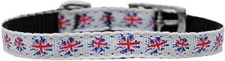 Mirage Pet Products 126-021 3816 Graffiti Union Jack-UK Flag Nylon Dog Collar with Classic Buckle