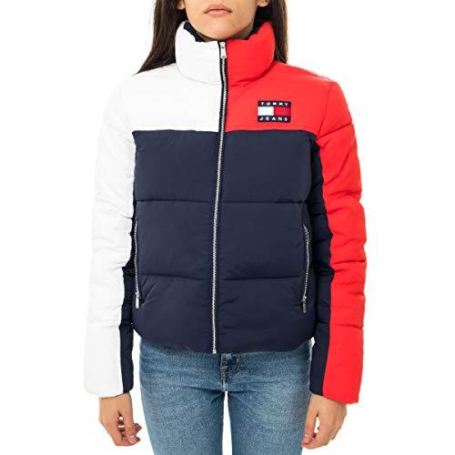 Tommy Jeans Women's Colorblock Puffa Jacket - Black Iris/Multi - S - Black