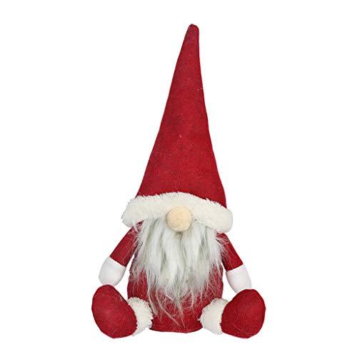 CHIHUOBANG Feliz Navidad Sombrero Largo Sueco Santa Gnomo Muñeca Adornos Hecho a Mano Juguete Vacaciones Casa Fiesta Decoración