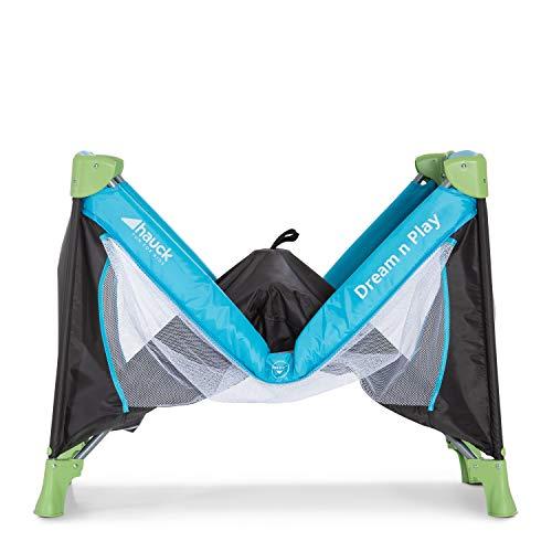 Hauck Kinderreisebett Dream N Play / inklusive Einlageboden und Tasche / 120 x 60cm / ab Geburt / tragbar und faltbar, Wasser (Blau) - 14