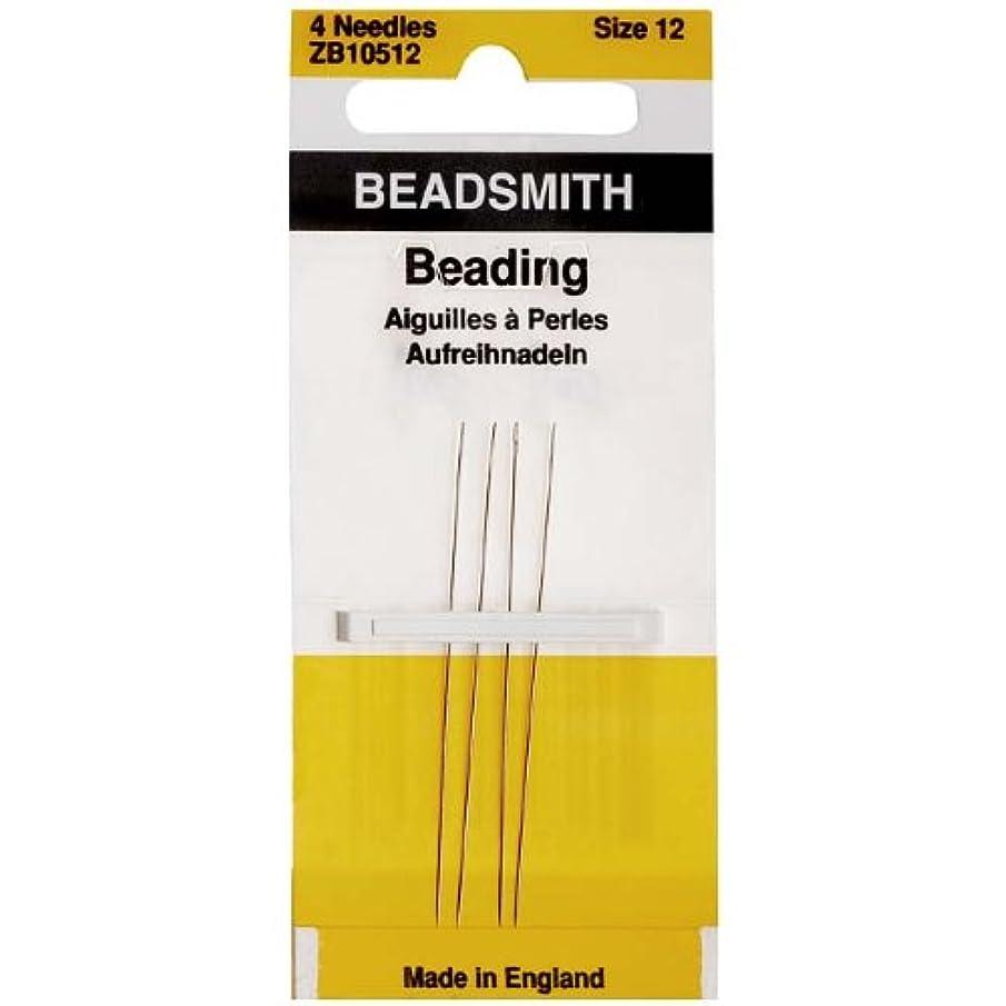 Needles Beading Size 12, 4 Needles/Pack