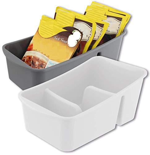 RDI 2 X Aufbewahrungsbox Küchenorganizer Vorratsdose für Gewürze, Tütensuppen, farblich Sortiert
