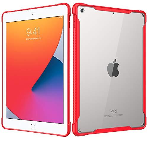 MoKo Hülle Kompatibel mit Neu iPad 8. Gen 2020 / iPad 7. Generation 2019 Tablet, Kratzfest Transparent Hart PC Rückseite Schutzhülle mit Stoßabsorbierend TPU Kante Bumper für iPad 10.2
