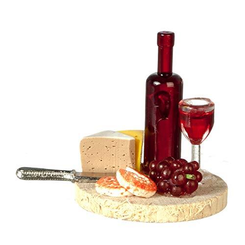 Melody Jane Puppenhaus Käse & Wein Brett 1:12 Maßstab Küche Esszimmer Essen Zubehör