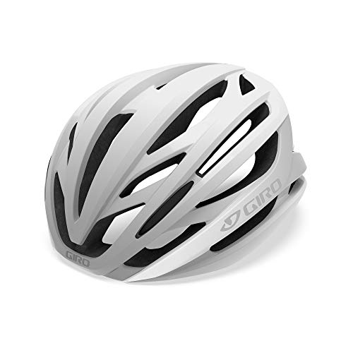 Giro Syntax MIPS Road Helmet, Unisex Adult, Matte White and Silver, M
