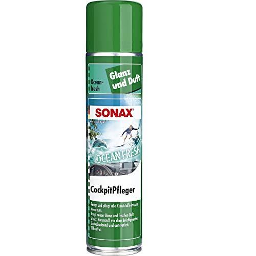 SONAX CockpitPfleger Ocean-Fresh (400 ml) reinigt und pflegt alle Kunststoffteile im Auto | Art-Nr. 03643000