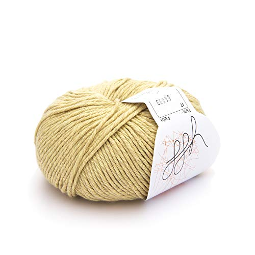 ggh Linova - 017 - Miel - Algodón con lino para tejer y hacer ganchillo