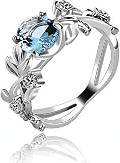 Yellow Chimes Blue Drop Tiara Silver Plated Ring for Women (Blue and Silver)(YCFJRG-17EX-SL)
