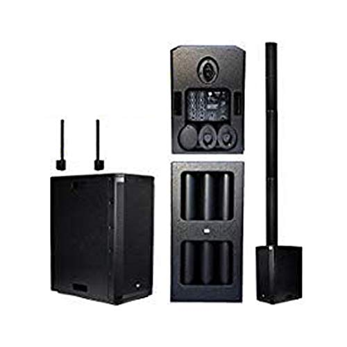 EMB 10BT PK1 1500W Tower Bluetooth All-in-One Linear Array PA Portable Linkable Speaker - Perfect for Home/Karaoke/Birthday/DJ Party/Meeting/Camp/Jobsite/Construction