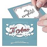 Gratta e Vinci Personalizzato Ti Amo Perchè per Lui o Lei. 5 Biglietti per Sorpresa Romantica al...