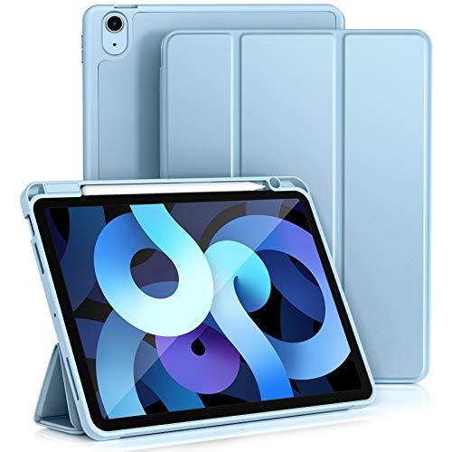 """Vobafe Hülle Kompatibel mit iPad Air 4 Generation Hülle 10.9"""" 2020, Trifold Ständer Schutzhülle mit Stifthalter - Unterstützt 2. Gen iPencil Aufladen, Auto Schlafen/Wachen, Hell Blau"""