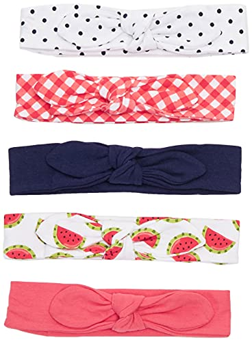 Hudson Baby Unisex Cotton and Synthetic Headbands, Watermelon, 0-24 Months