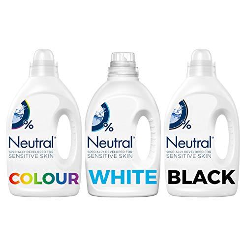 Neutral Wasmiddel Wit, Kleur en Zwart Parfumvrij 3 x 20 wasbeurten Voordeelverpakking