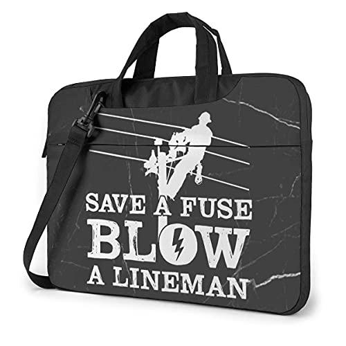 Bolsa De Hombro Para Portátil Lineman Save A Fuse Blow A Lineman Laptop Bag Un Hombro Bolsa Para Computadora Portátil A Prueba De Golpes