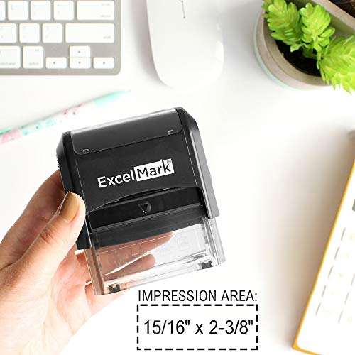 ExcelMark Large Return Address Stamp - Up to 5 Lines - Custom Self Inking Rubber Stamp - Customize Online with Many Font Choices - Large Size Photo #4