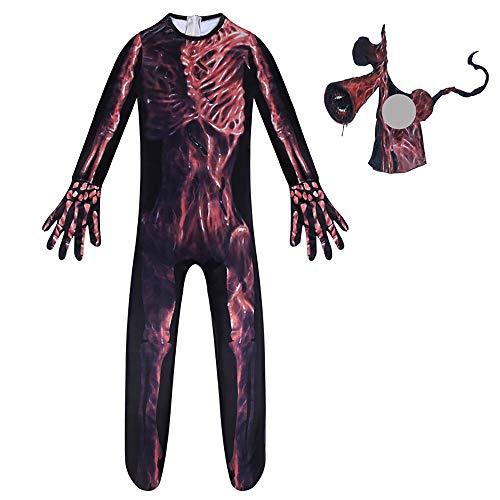 Bingchuan Disfraz de Monstruo de Cabeza de Sirena, Mono de Cosplay, Disfraz de Mono de Terror para niños, para Fiesta de Navidad de Halloween