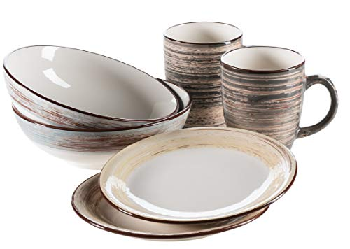 piatti servizio shabby chic Mäser 931378 - Set da colazione per 2 persone