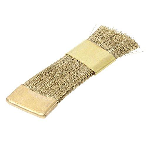 JOYKK Foret à Ongles Brosse de Nettoyage Brosses en Fil de cuivre pour Brosse à manucure électrique - Or