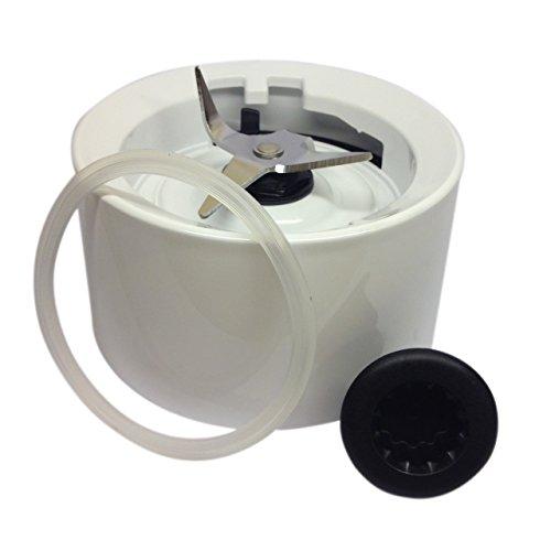 Frullatore brocca base/collare montaggio con guarnizione e accoppiatore. Compatibile con Kitchenaid. Bianco (Twist On) W10279516.