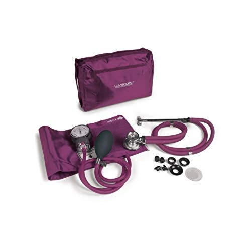 Lumiscope Professional Blood Pressure and Stethoscope Kit, Orchid, 100-040ORC