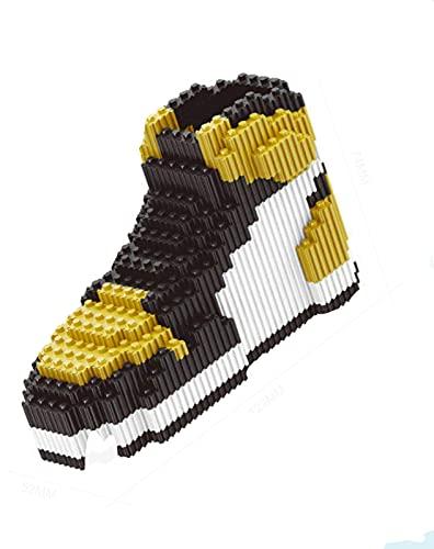 ASDFG DIY ensamblaje Mini Bloques de construcción Zapatos de Baloncesto Modelo Zapatillas de Deporte Juego de Ladrillos para niños Regalos Bloques de Juguete
