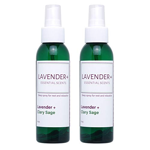 Nighttime Sleep Spray to Relieve Insomnia and Promote Relaxation and Rest. Calming Lavender Blended Pillow and Linen Mists. (Lavender & Clary Sage Blend)