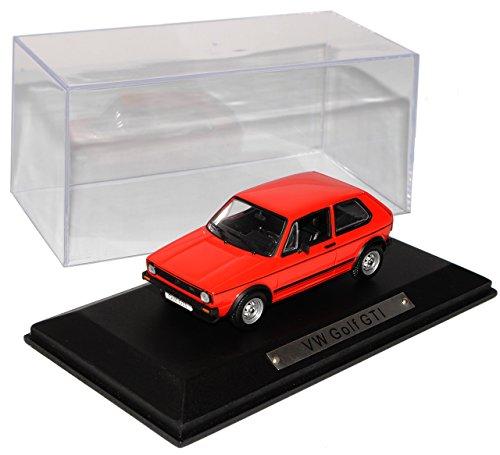 Volkwagen Golf I GTI Rot 3 Türer 1. Generation 1974-1983 1/43 Atlas Modell Auto