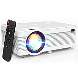 professional [2020 Upgrade WiFi Projector]  The POYANK 5500Lux WiFi LED projector supports Full HD 1080P Mini …