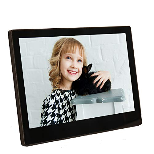 Digital Picture Frame Wi-Fi 10.1 Inch Photo Frame Smart Picture Frames Friends and Family Video Music IPS Touch Screen 180°Viewing Angle Auto-Rotate USB,RAM 16 GB,3.5mm Stereo Headphone Output
