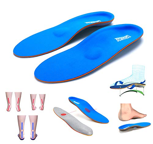 Arch Support Shock Absorption Orthotics Insoles,Metatarsal Support Insert for Flat Feet,Plantar Fasciitis,Heel Pain