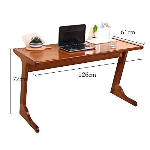 LWW Mesa, Mesas moderna simple del estilo del marco de acero de madera Inicio tabla de la oficina - Pc ordenador portátil Tabla Estudio de la estación de trabajo de oficina en casa y más -Workbench