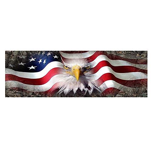 Auto Sticker Amerikaanse Eagle Vlag Sterren Pick-up Truck Achterruit Glas Sticker Verwijderbare Decoratiesticker 135 * 36cm