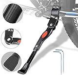 Caballetes para Bicicletas - Soporte de Bicicleta de Aleación Ajustable MTB con pie de Goma Antideslizante, Soporte de pie de Aleación Universal para Bicicleta 24'- 28' (Negro3)