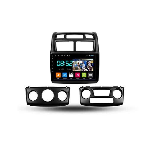 Autoradio Coche Bluetooth 2 Din Android Radio De Coche 9'' Pantalla Táctil Wifi Plug And Play Completo RCA SWC Soporte Carautoplay/GPS/DAB+/OBDII Para Kia Sportage 2007-2009,Octa core,4G Wifi 4G+64G